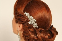 Hairstyles and up dos for weddings / wedding hairstyles for guests, bridesmaids and brides.  Loose curls, chignon, half up, formal updos, braids and buns