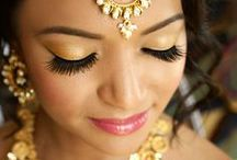 Makeup for wedding events / All different types of makeup from smokey eyes, to red lips to a natural look.  Make up for a sangeet, Indian or Pakistani wedding, fun makeup for a reception.  Looking for makeup artists?  Visit www.Shaadi-Bazaar.com