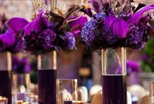 Purple, lavender & violet Decor / A purple color theme for your wedding or reception, purple decor, purple cake, purple flowers.  It's all here on our purple wedding inspiration board / by Shaadi Bazaar