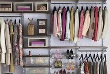 Closet / We like our money right where we can see it, hanging in our CLOSETS! These are some of our favorite closet designs that create beauty and function.
