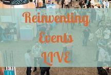 Reinventing Events Live! (via Instagram) / See what event production is REALLY like! Check out Reinventing Events behind the scenes.