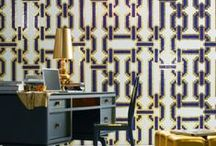 Glam Rooms / Let us help your house SPARKLE. What's so wrong with having a little bit of fun in your design? Whether it be with walls or even with a nice champagne colored faucet, let it shine!