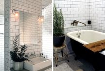 BATHROOMS / Interior design inspiration for project house renovation: clean, brush, shower, flush place