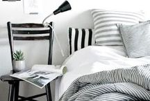 BEDROOMS / Interior design inspiration for project house renovation: places to sleep