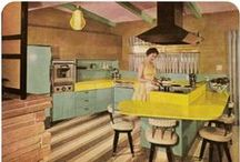 Kitchens with Color: Retro / Blast from the past? Welcome to the world of color. We love having kitchens that need a little updating but keeping their original concept of having a fun space to live in! Take a look at our blog post that features Retro Kitchens: http://acadianhousekitchenbath.com/kitchens-with-color-but-not-avocado-green/