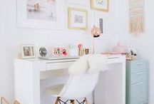 Home Office Ideas / Home Office decor and organization ideas inspired by Ikea, Earmes, Wayfair, Apple, and World Market