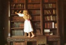 """Bibliophile at Heart~ / """"This nice and subtle happiness of reading, this joy not chilled by age, this polite and unpunished vice, this selfish, serene life-long intoxication."""" ~Logan Pearsall Smith"""
