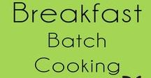 "Breakfast {Batch Cooking} / Batch cook breakfast to save time in the morning. Cook once and eat all week. Batch cook and freeze your breakfast meals. Eat breakfast every day by meal planning and cooking ahead your meals.  Let me know what you think by clicking the ""Tried it button"" and leave a comment on any of the recipes."