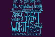 Beautiful Girls / 1 Peter 3:3-4.  My girls are committed to the LORD and I vow to teach them to adorn themselves with the beauty of a gentle and quiet spirit / by Melanie Marino Spindler