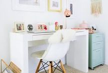 Home Office / Create a home office space that's fashionable and functional!