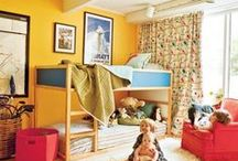 Boys shared bedroom ideas / Ideas for when we move little brother into big brother's room before baby girl arrives / by Erika