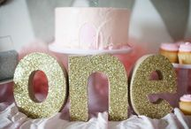 Aly Grace's Birthday Parties / Twinkle, Twinkle Little Star/Pink and Gold