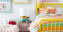 HOME| Josie's Room / Young girl, toddler, colorful, playful, happy space.