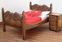 Miniature Beds / Made from beautiful hard woods.