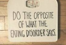 Eating Disorder / Fact:  I have an eating disorder. Fact:  ED (Eating Disorder) lies. Fact:  I am on the road to recovery. / by Heather McCleery
