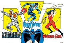 Teen Titans / DC's superior teen team, by Marv Wolfman and George Perez. Check out more classic comic book goodness at www.longboxgraveyard.com
