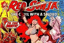 Red Sonja / The She-Devil With A Sword! Created by Roy Thomas (by way of Robert E. Howard). From Marvel Comics. Check out more classic comic book goodness at www.longboxgraveyard.com