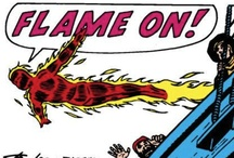 Flame On! / Rallying cry of the Human Torch! From Marvel Comics. Check out more classic comic book goodness at www.longboxgraveyard.com