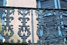 New Orleans Ironwork | Architectural Elements / DU Verre Hardware Inspires my exploration for sculptural elements and architectural detailing from New Orleans. All discoveires sighted during the Blogtour NOLA trip April 2013. / by Carmen @ The Decorating Diva, LLC