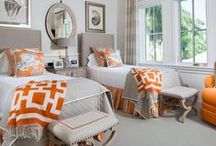 Orange | Home Decor Color Trends 2014 via The Decorating Diva  / The Decorating Diva: Orange color direction 2014 inspired by fashion, the 60s, beauty, automotive, beauty and consumers desire for happier times to offset current economic malaise. / by Carmen @ the Decorating Diva