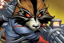 Rocket Raccoon / The true star of the Guardians of the Galaxy. From Marvel Comics. Check out more classic comic book goodness at www.longboxgraveyard.com