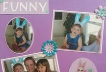 Easter & spring scrapbooking layouts / scrapbook layouts