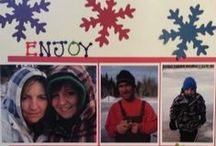 Snow Fun Scrapbook Layouts / winter scrapbook layouts