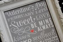 """Valentines Day / Enjoy the """"I love you"""" from home decor to diy crafts for the kids."""