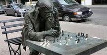 """Mann kann mal Matt sein. / Schach ist meine Passion. Hier findest Du die wunderschöne Schachbretter, Schachfiguren, Partien, Großmeister, Schachzitate und vieles mehr, über das Spiel der Könige. """"You must take your opponent into a deep dark forest where 2+2=5, and the path leading out is only wide enough for one""""  (Mikhail Tal)"""