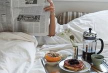 Breakfast in Bed Recipes / We think a lot about our bed and how to stay in it more. Breakfast in bed is definitely our ideal way to spend any morning.