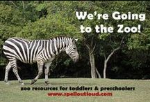Zoo Theme / Resources to use with toddlers and preschoolers when visiting or learning about the animals in a zoo.