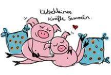 schweinchen klitzeklein / #springvisuals Illustrationsprojekt 2013/2014  AT 'Schweinchen Klitzeklein'