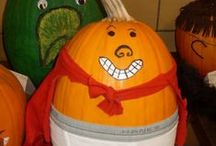 Literary Gourds: Creative Pumpkins Based on Storybook Characters / A collection of pumpkins and gourds celebrating children's book characters.