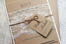 Wedding Invitations & Stationery / Your wedding invitation is the first glimpse a guest gets of your wedding! Make a statement with the perfect invitations, stationery, menus, programs, place cards, etc.
