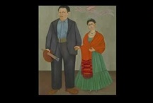 Frida and Diego / The relationship between  Frida Kahlo and Diego Rivera developed each of their unique and individuals styles.   / by Ruth Lee