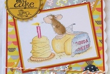 House Mouse Hand stamped cards and papercrafts