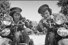 Vintage motorcycle ladies - pretty much my favorite thing ever.