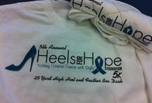 Heels for Hope / Heels of Hope is a non-profit organization about the education and awareness of ovarian cancer.  Each year there is a charity event. Heels of Hope is located in Oklahoma.  It was started when a friend of mine was diagnosed with ovarian cancer realizing there were no organizations about this particular kind of cancer. Heels of Hope started with one amazing tough fighter Rosemary Persa who lost her battle in 2013  / by Carey Cronin