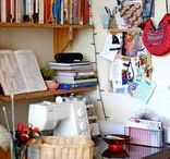 Inspiring Sewing Spaces / Inspiring sewing spaces that we love!