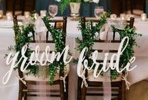 Wedding Reception Inspiration / Place settings, centerpieces, tablescapes- everything you need to make your reception unforgettable.