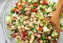 Recipes: Salads / Salads don't have to be limited to just lettuce!  Get creative with the sweet and savory salad recipes you'll find on this board!