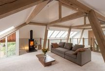 Timber frames / This is what we do best - simple, elegant timber frame houses with cosy rooms and stunning interiors  www.roderickjamesarchitects.com