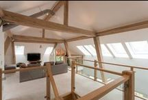 Loft living / These are buildings with lofty spaces and dramatic semi-industrial use of timber frames   www.roderickjamesarchitects.com