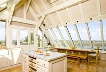 New England Style / Stylish houses inspired loosely by East Coast architecture with painted timber cladding, low-pitch roofs, white windows and relaxed interiors.  www.roderickjamesarchitects.com