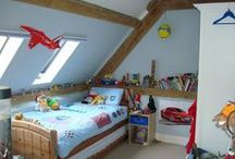 Children's Bedrooms / Children's bedrooms created in bespoke timber frame houses, by Roderick James Architects.