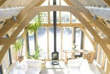 RJA Show Homes / Two show homes in Devon, one traditional oak framing, one contemporary.
