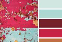 {Cor} / Paletas de cor interessantes e fotos que trabalhem bem o contraste das cores.