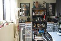 Lovely Art Studios / Photos of inspirational Art Studios, including my own! :P