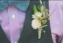 Boutonnieres / Different ideas for a groom's boutonniere from my past weddings!