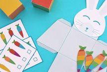 Super Pasqua fai da te / Scopri tante idee per rendere la tua Pasqua super colorata con coniglietti e carotine arcobaleno! Decorazioni, kit da scaricare e dolci ti aspettano sul blog!
